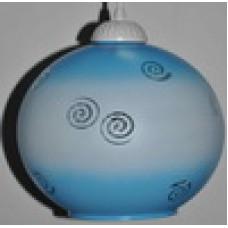 Полушар голубой белый спираль
